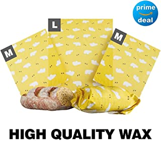 Bee's Wrap Lunch 3 Pack - Eco Friendly Reusable Food Wraps - Washable Sustainable Plastic Free Food Storage - 2 Medium (10