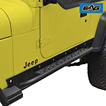 EAG Rock Slider Rocker Guard Nerf Bar Step Armor Fit for 87-95 Jeep Wrangler YJ