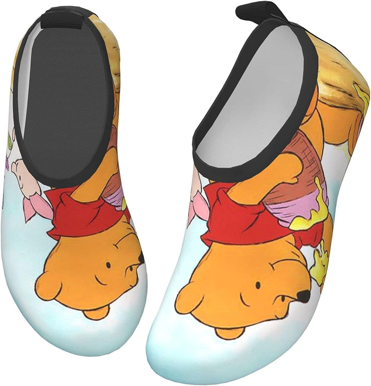 ZSCFBJM Winnie The Pooh Toddler Kids Water Shoes Non-Slip Quick Dry Barefoot Aqua Socks Beach Swimming Surf Walking for Boys Girls