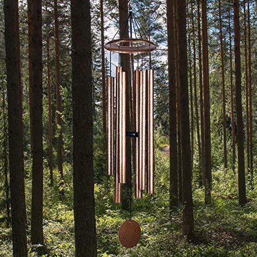 LACHIKA Wind Chimes Outdoor Large Deep Tone Metal Windchimes Sound Like Church Bell 50 inch Copper Vein 1pcs