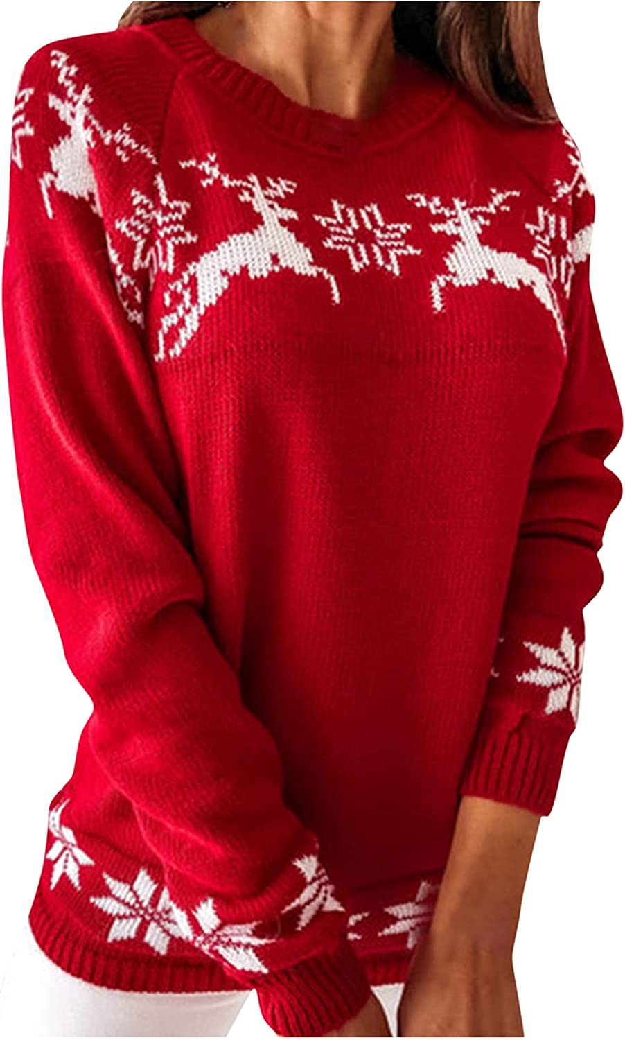 Sweater for Women Graphics Christmas Industry No. 1 Winter Special price Tops Elk Print Fall