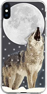 Case for Phone XS Max Wolf & XS Max Protector & MUQR Gel Silicone Drop Proof Protection Cover Compatible with iPhone Xs Max(10S Max) (Plus) 6.5 Inches 2018 & Creative Wolf in The Moon Animal Cool