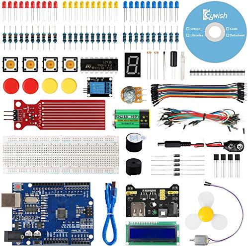 Keywish für Arduino R3 Scratch Starter Kit, Super Base Kit für ATmega328P mit 15 Lektionen Tutorial Kompatibel mit Arduino IDE Mixly Scratch Mblock Graphical Programming