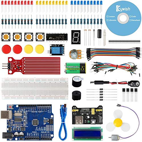 Keywish for Arduino R3 Scratch Starter Kit,Super Base Kit for ATmega328P with 15 Lessons Tutorial Compatible con Arduino IDE Mixly Scratch Mblock Graphical Programming