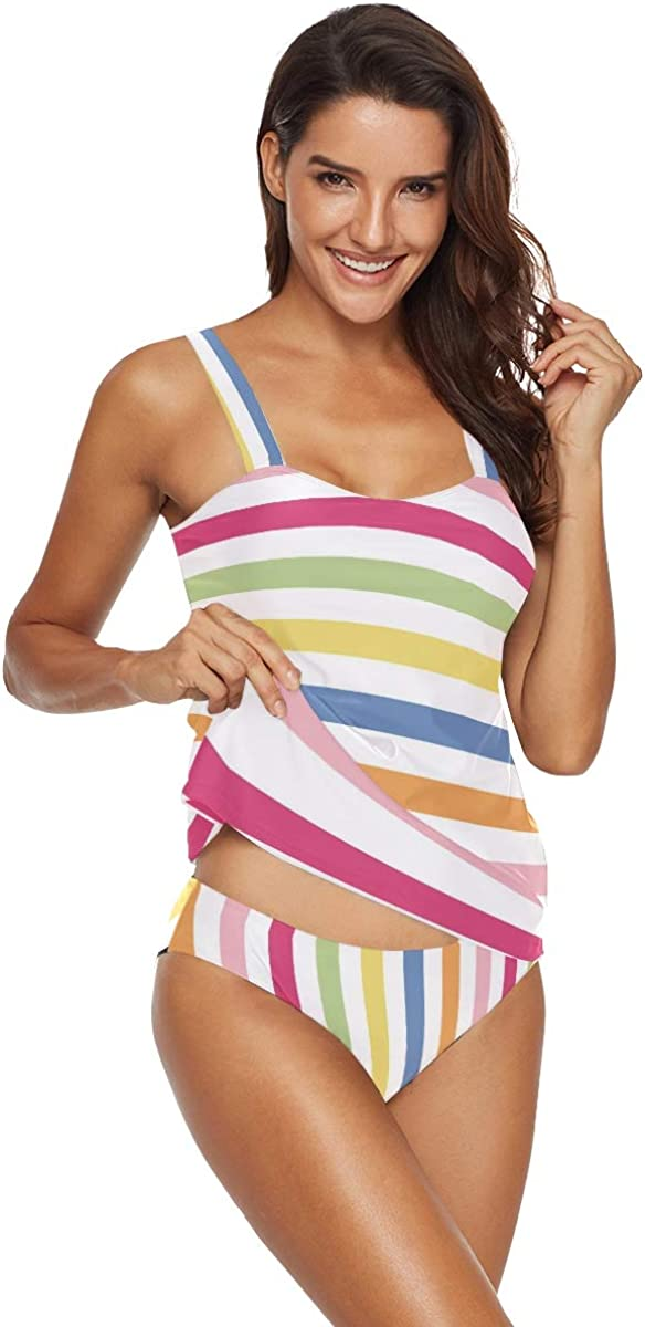 Women's Tankini Swimsuits, Two Piece Sun Protection Bathing Suit for Swimming