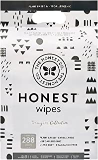 The Honest Company Designer Baby Wipes   Pattern Play   Over 99 Percent Water   Pure & Gentle   Plant-Based & Biodegradabl...