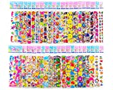 Sticker Sheets Stickers for Kids - 40 Different Kids Bulk Stickers 1200+ Fun Stickers for Girls Boy Stickers Kids Stickers for Toddlers Puffy Stickers Assorted Scrapbook Stickers Dress Up Sticker