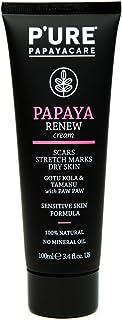 P'URE PAPAYACARE Papaya Renew Cream - Reduces Appearance of Scars, Stretch Marks & Dry Skin for Sensitive Skin - Gotu Kola...