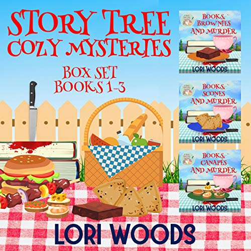 Story Tree Cozy Mysteries audiobook cover art