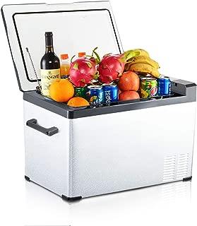 Aspenora Car Refrigerator 30-Quart Portable Freezer Compressor Electric Cooler Car fridge Portable Freezer Mini Fridge with Freezer -4°F ~ 68°F - 12V/24V DC (30-Quart)