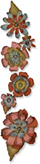 Sizzix 657824 Sizzlits Decorative Strip Die, Tattered Flower Garland by Tim Holtz, Multicolor