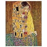 Legendarte - Cuadro Lienzo, Impresión Digital - El Beso - Gustav Klimt - Decoración Pared cm. 50x70