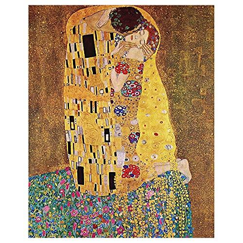 Legendarte - Stampa su tela - Il Bacio - Gustav Klimt - Quadro su Tela, Decorazione Parete cm. 50x70