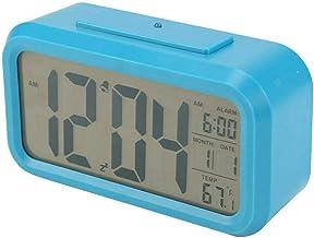 Digitale wekker Backlight Snooze Temperatuur Batterij Operated LCD-scherm, elektronische wekker voor studenten en kinderen