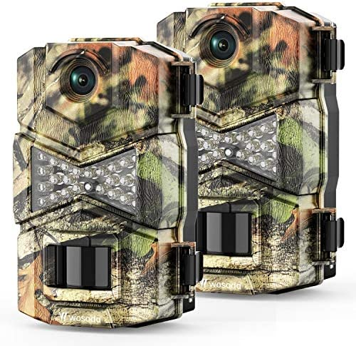 WOSODA 2 Pack Trail Game Camera 16MP 1080P Waterproof Hunting Scouting Cam for Wildlife Monitoring product image