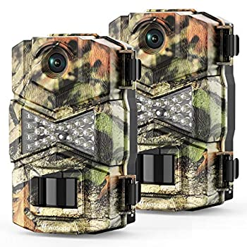 WOSODA【2 Pack】 Trail Game Camera 16MP 1080P Waterproof Hunting Scouting Cam for Wildlife Monitoring with Night Vision LY123  2 Pack