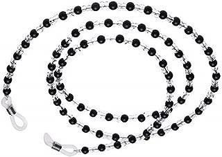 Onwon 2 Pieces Beaded Eyeglass Chain Cords - Crystal Beads Beaded Sunglass Chain Holder Eyewear Lanyard Strap Necklace