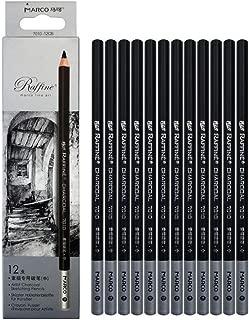 Charcoal Drawing Pencils Set Sketch Pencils Medium 12pcs Charcoal Pencils Non-Toxic Drawing Pencils Tools Set for Fine Art Supplies (Black Medium)