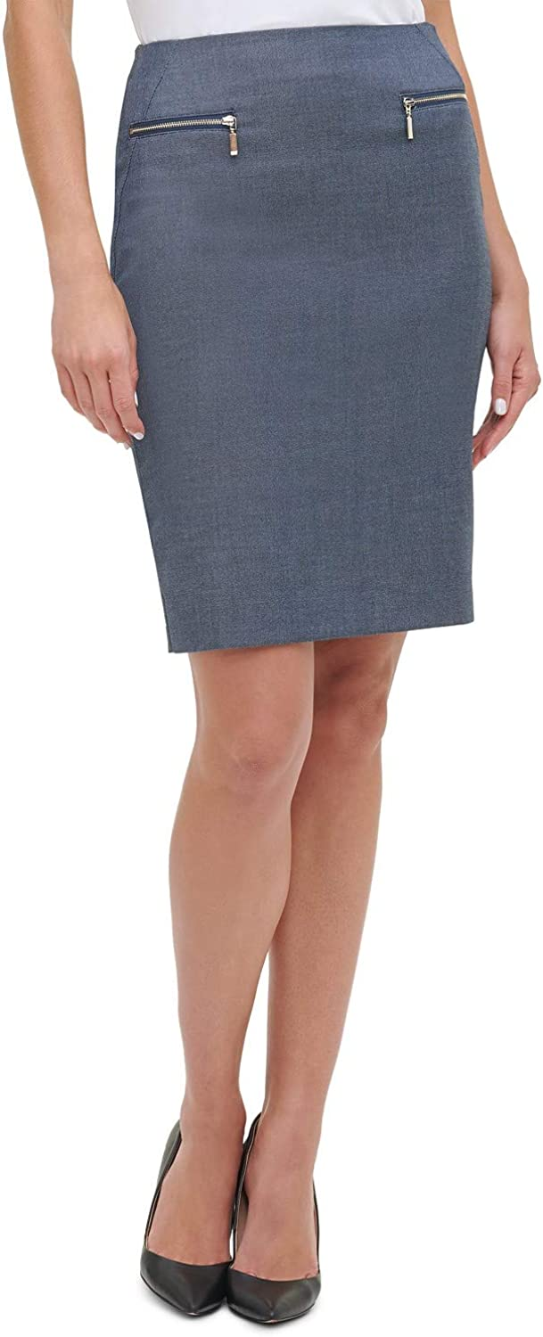 Tommy Hilfiger Women's Chambray Pencil Skirt