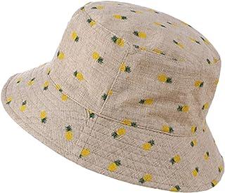f3f745d20c9 Eric Carl Cotton Pineapple Bucket Cap Unisex Fisherman Hat Bob Caps Hip Hop  Outdoor Summer Beach Sun Fishing Bucket Hats Khaki