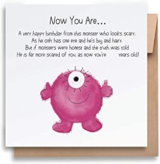 Now You Are.Children's Birthday Card with Envelope, Kid's Birthday Card Funny Birthday Card Humorous Birthday Card for Kid...
