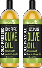 WishCare® 100% Pure Premium Cold Pressed Olive Carrier Oil - Combo Pack of 2 (200 Ml each)