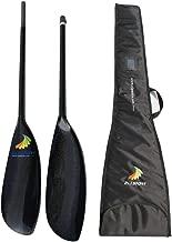 Lightweight ZJ Sport Carbon Fiber Kayak Paddle with Oval Shaft in 10cm Length Adjustment