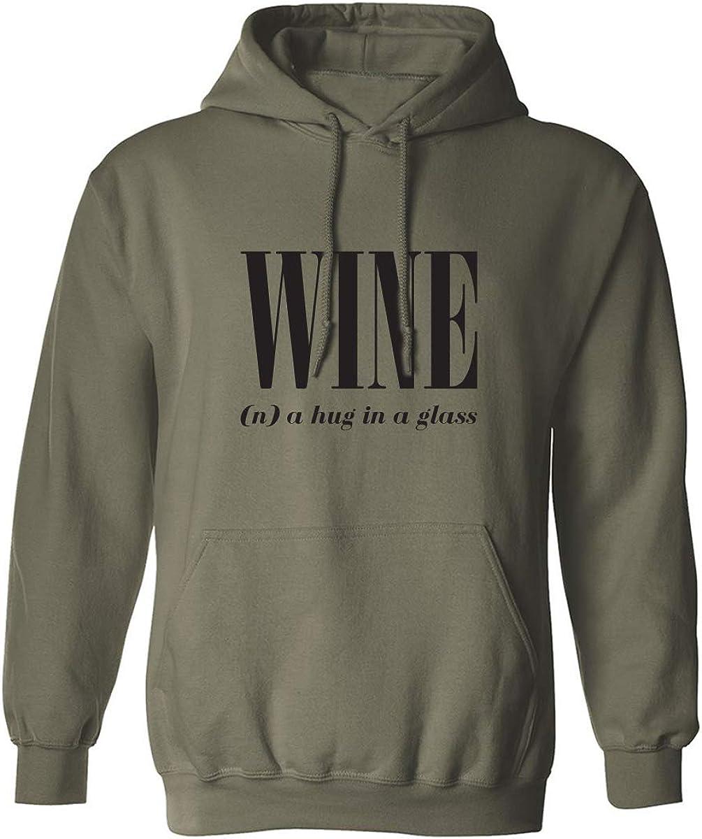 Wine (n) A Hug In A Glass Adult Hooded Sweatshirt