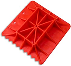 Anumit Off-Road Base Compatible for Lifting Jack PP Pad, Serrated Edge Base to Alleviate Jack Hoisting Sinkage On Sand, Snow, Mud, and Other Soft Ground