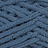 Bernat Blanket Yarn – Super Bulky, Polyester Crafting Yarn – 220 Yard Skein – for Knitting, Crochet, Macramé, and Crafting Purposes (Country Blue)