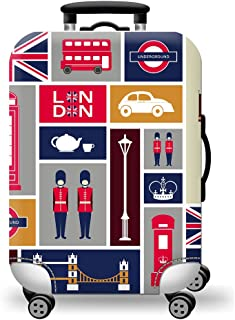 TDC Men's Elastic Luggage Cover Two People Printing M police
