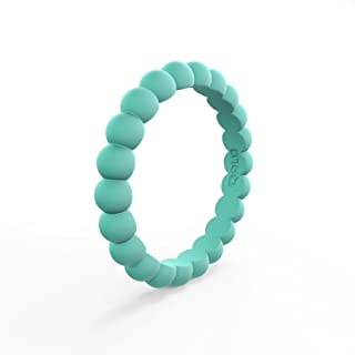 QALO Women's Thin Stackable Silicone Ring Collection
