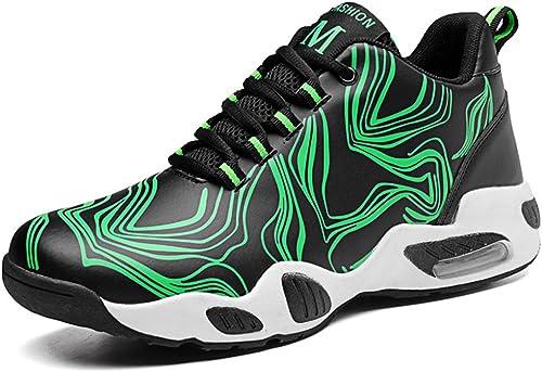 DANDANJIE baskets Hommes Chaussures de Basket-Ball Air Cushion Moyen-Top Trainers Chaussures de Sport Chaussures de Course en Plein air