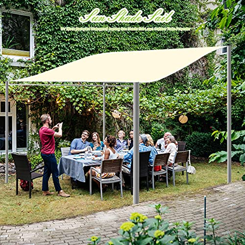 Toldo rectangular de 3 m x 2 m, color beige, impermeable, 95% de protección solar con bloqueo UV, para exteriores, patio, jardín, pérgola, terraza