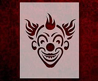 Evil Clown Smiling 8.5 x 11 Inches Stencil (531)