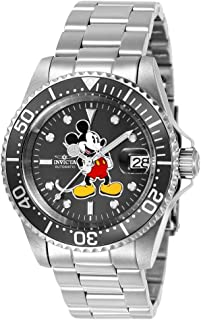 Invicta Men's Disney Limited Edition Automatic-self-Wind Watch with Stainless-Steel Strap, Silver, 9 (Model: 24610)