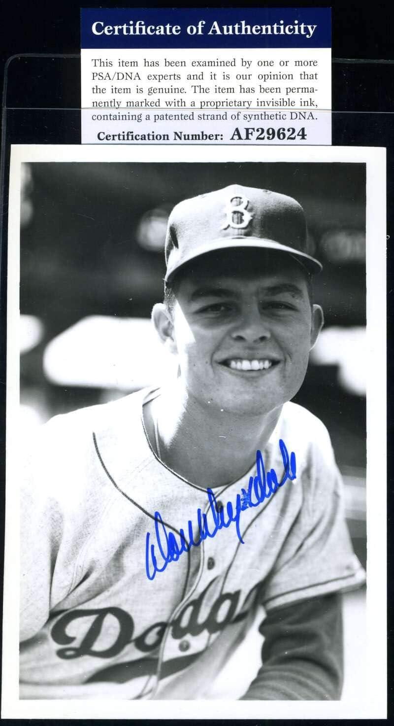 Don Drysdale PSA Product DNA Coa Hand Soldering Dodgers Photo Brace Signed Autogra