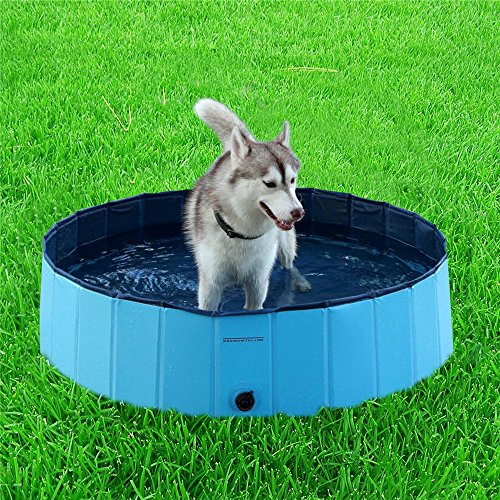 Dog Pool, VOKPETS X-Large (62.99'x11.81') Foldable Water Pool Pets Dog Cats Shower Bathing Bathtub
