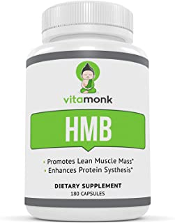 Sponsored Ad - HMB by VitaMonk™ - 180 Capsules Pure HMB Supplement for Increased Strength, Fat Loss and Faster Workout Rec...