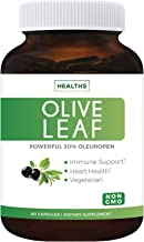 Olive Leaf Extract (Non-GMO) Super Strength: 20% Oleuropein – 750mg –..