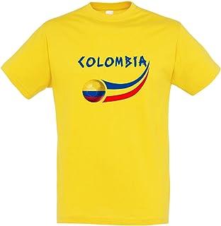 – Camiseta Colombia Hombre, Amarillo, FR: S (Talla del Fabricante: S)
