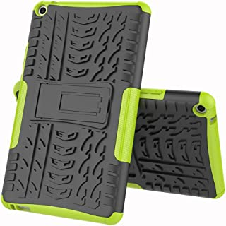 TenYll case For Huawei MediaPad T3 8.0, Shockproof Tough Heavy Duty Armour Back Case Cover Pouch With Stand Double Protective Cover Huawei MediaPad T3 8.0 Case -Green