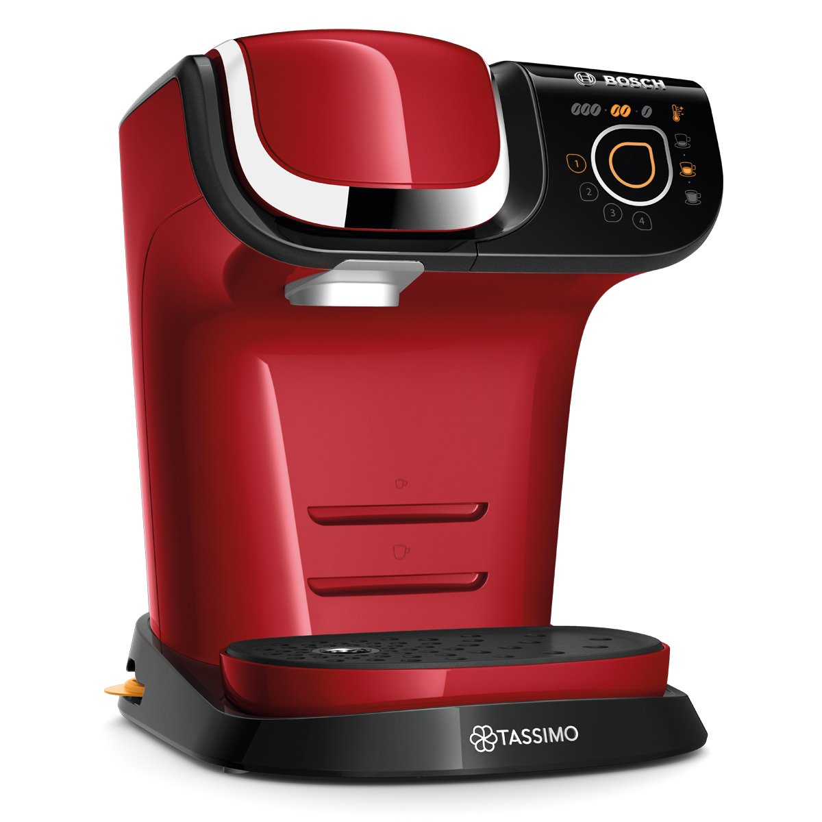 Bosch TAS6003 TASSIMO My Way Cafetera de cápsulas, 1500 W, color rojo: Amazon.es: Hogar