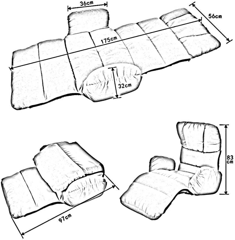 JIE Schlafsaal-Bett-Stuhl, Student-fauler Stuhl, College-Schlafsaal-Artefakt-moderner einfacher zusammenklappbarer bequemer Breathable zuflliger Recliners-Schlafzimmer-Rückenlehnen-Stuhl-Boden-Sofa