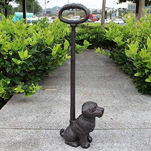 YANJ Estatua de Animal Retro rústica Vintage Figuras Antiguas Tapón de Puerta de Hierro Fundido en Bruto Hecho a Mano con Mango Largo (Color: Hierro para Perros)