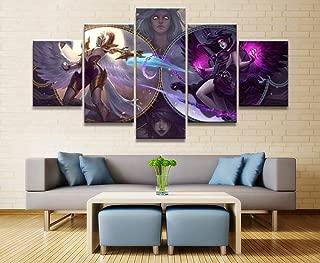 WEMUR Pintura Impresa de la Lona del Juego de 5 Paneles para la decoración del Arte de la Pared de la Sala de Estar Imagen HD Funciona el Cartel, Framed 40X60 40X80 40X100cm