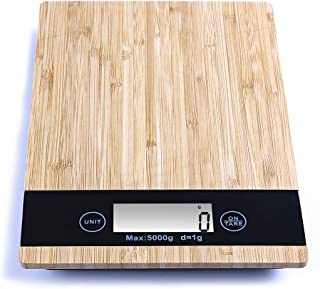 Perfect bamboo food scale, easy to use kitchen scale, Multi-function Food Diet Weight Scale Sensitive Cooking Scale Grams ...