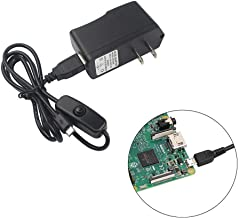 MUZOCT 5V/2.5A Power Supply Micro USB Charger Adapter with On Off Switch for Raspberry Pi 3/2 Model B