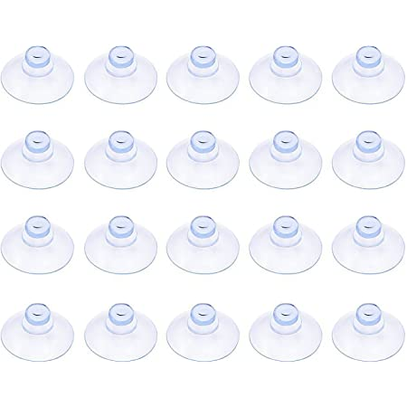 3 Size, Clear Whaline 30 Packs Suction Cup Plastic Sucker Pads Without Hooks