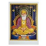 indischerbasar.de Imagen Gurú Nanak 50 x 70 cm sijismo lámina póster Dorado India decoración
